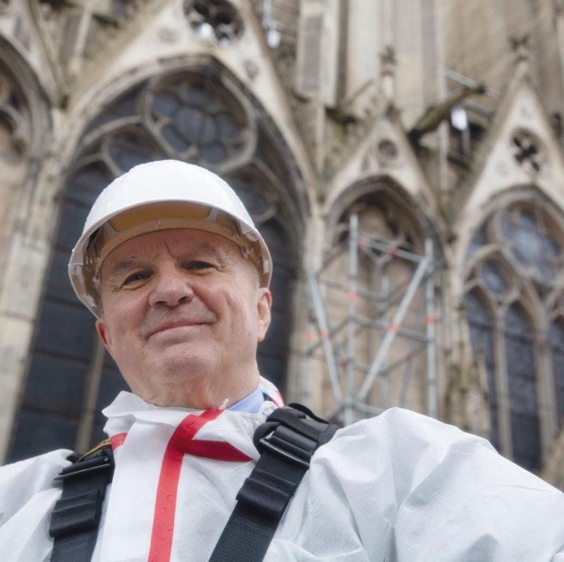 Général d'armée Jean-Louis Georgelin, président de l'établissement public chargé de la conservation et de la restauration de la cathédrale Notre-Dame de Paris