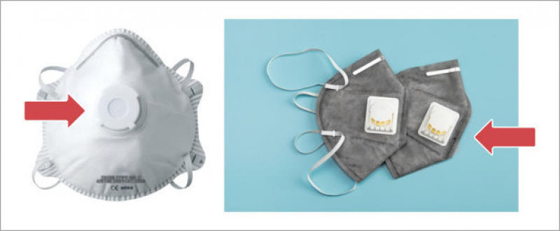 Masques de protection respiratoire dotés de valves d'expiration