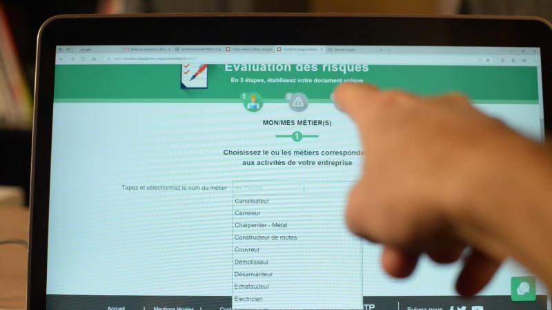 Mondocuniqueprems. un outil de l'OPPBTP pour réaliser son évaluation des risques en ligne