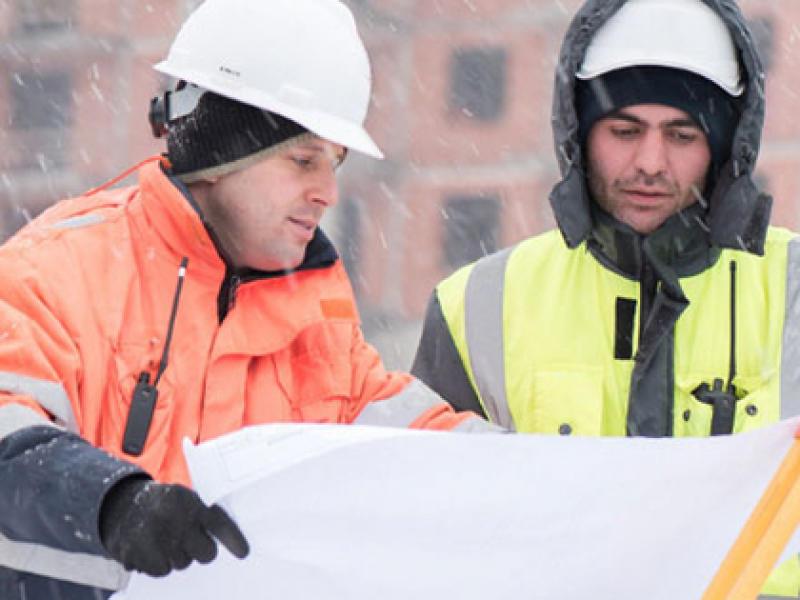 Travail sur les chantiers en hiver