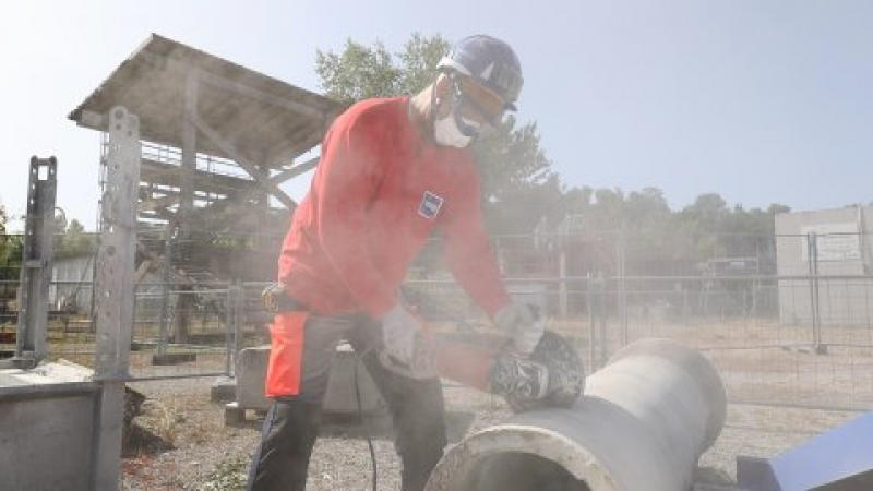 Découpe de tuyaux béton