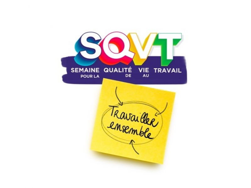 """""""Travailler ensemble"""", thème de la SQVT 2021 de l'Anact"""