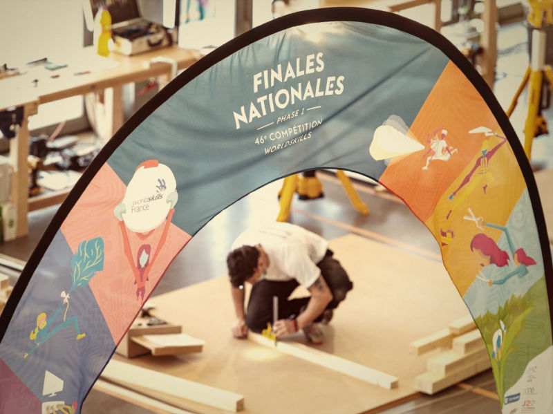 Phase 1 des finales nationales WorldSkills : épreuves en charpente