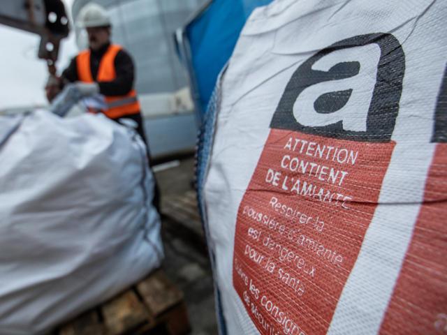 Transport déchets amiante