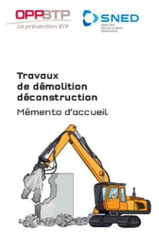 M21-Travaux de démolition déconstruction - Mémento d'accueil