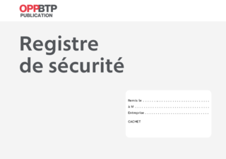 O62 - Registre de sécurité 4 pages