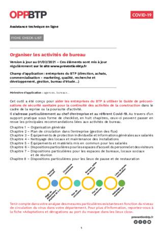 FOP56-Organiser activités de bureaux