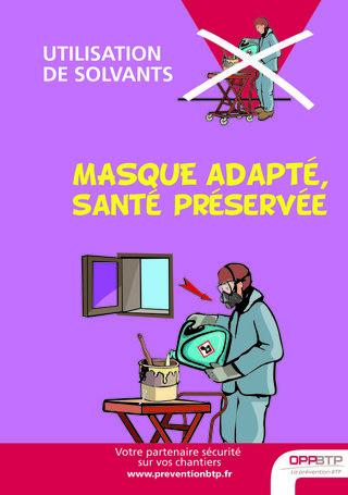AF59-Utilisation de solvants - Masque adapté, santé préservée