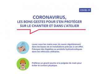 Affiche coronavirus - les bons gestes pour se protéger
