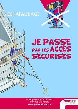 AF14 - Échafaudage - Je passe par les accès sécurisés