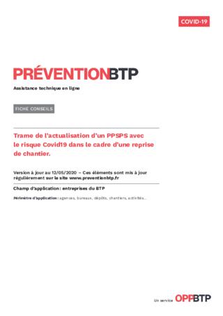 FOP55-Trame d'actualisation de PPSPS