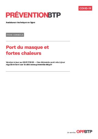 S828-Port du masque et forte chaleur