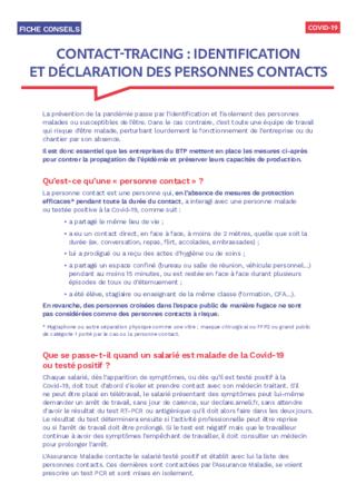 S829-Contact-tracing : identification et déclaration des personnes contacts