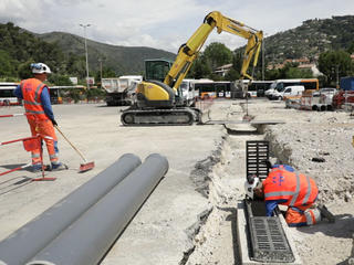 Canalisateurs sur un chantier