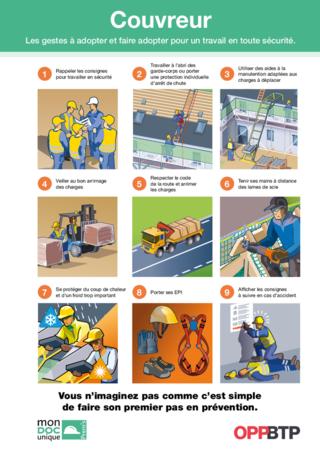 AF102- Couvreur- Les gestes à adopter pour travailler en sécurité Prems