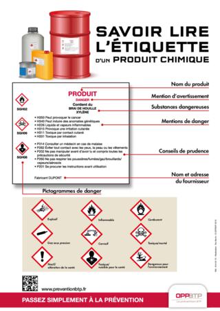 AFFICHE - I6 A 04 15 - Savoir lire l'étiquette d'un produit chimique