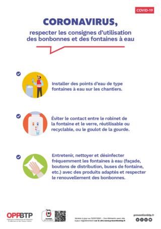 AF119 - Coronavirus, respecter les consignes d'utilisation des bonbonnes et des fontaines à eau