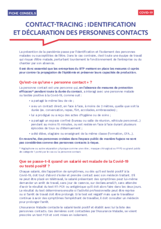 S829-Contact-tracing : identifier et déclarer des personnes contacts