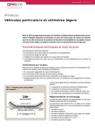 S183 - Surveillance et entretien des pneus - Véhicules particuliers et utilitaires légers