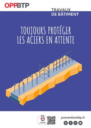 AF69-Travaux de bâtiment - Toujours protéger les aciers en attente