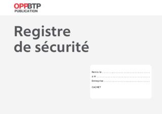 O62 - Registre de sécurité 4 pages