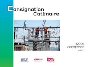 OUVRAGE - D6 G 09 17 - Consignation caténaire - Mode opératoire