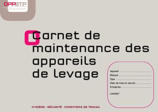 FOP 04 - Carnet de maintenance des appareils de levage