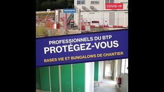 OPPBTP #covid-19# dans les bases vie et les bungalows de chantier ?