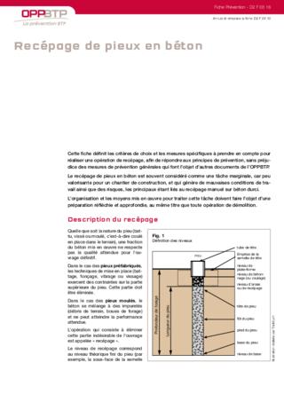 S211-Recépage de pieux en béton
