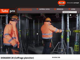 Les vidéos partagées sur Tutopro.fr visent à transmettre des bonnes pratiques réalisées en sécurité