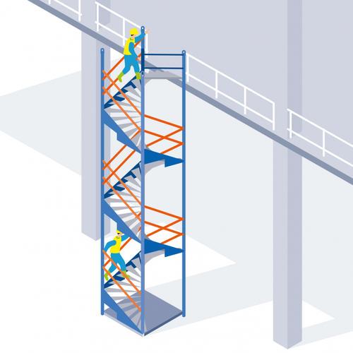 S356 - Un escalier modulable pour accéder en sécurité aux étages d'un bâtiment en construction
