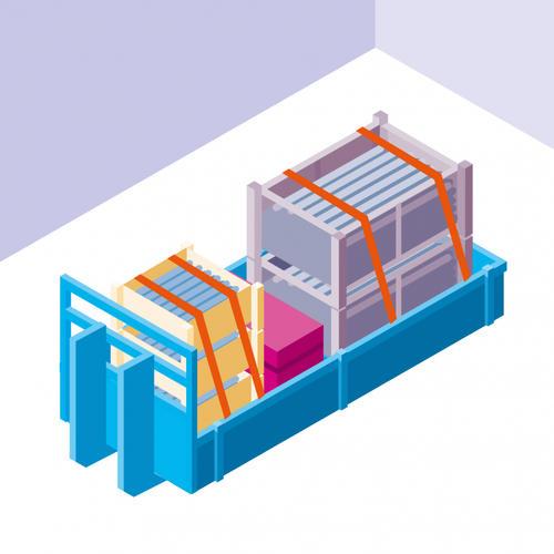 S567 - S'équiper de polybennes avec racks de rangements pour transporter les échafaudages