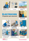 AFFICHE - G0 A 01 17 - Électricien - 10 gestes qui assurent