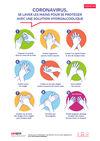 AF81 - AFFICHE - Covid-19 : se laver les mains avec une solution hydroalcoolique pour se protéger