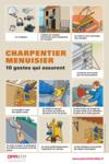 AFFICHE - F2 A 02 13 - Charpentier-menuisier - 10 gestes qui assurent
