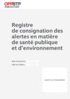 O93-Registre de consignation des alertes en matière de santé publique et d'environnement