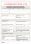 FOP 25 - Rapport de vérification avant mise en service de l'échafaudage de pied