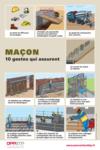 AFFICHE - E0 A 01 13 - Maçon - 10 gestes qui assurent