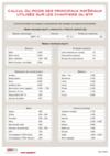 FOP 03 - Calcul du poids des principaux matériaux utilisés sur les chantiers du BTP