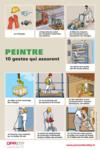 AFFICHE - F4 A 03 16 - Peintre - 10 gestes qui assurent