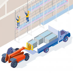 S536 - Équiper les chantiers avec un échafaudage de pied