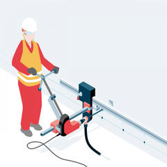 S410 - Un perforateur sur rail pour percer en quantité