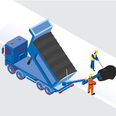 S506 - Transporter des enrobés à l'aide d'un camion benne équipé d'un convoyeur
