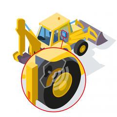 S321 - Contrôler en temps réel les pneus de son engin de chantier