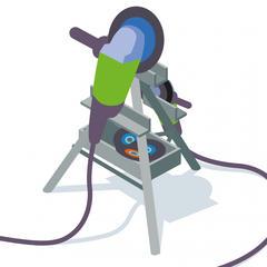 S394 - Installer un support pour meuleuses afin d'éviter les poses et les déposes au sol