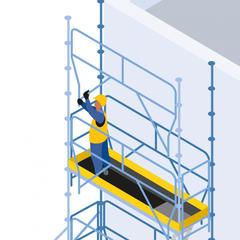 S301 - Prévenir les chutes lors du montage ou du démontage d'un échafaudage