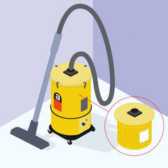 S268 - Désamianter avec un aspirateur à filtration absolue
