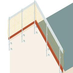 S135 - Garde-corps temporaires en rive de pignon des toitures inclinées  Volet 1: les dispositifs pour murs de pignon