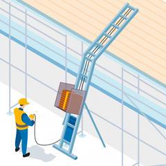 S781 - Utiliser un monte-matériaux pour rénover les toitures dans des ruelles étroites
