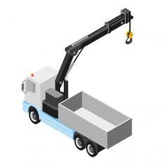S641 - Un camion plateau avec grue pour faciliter la manutention et le levage